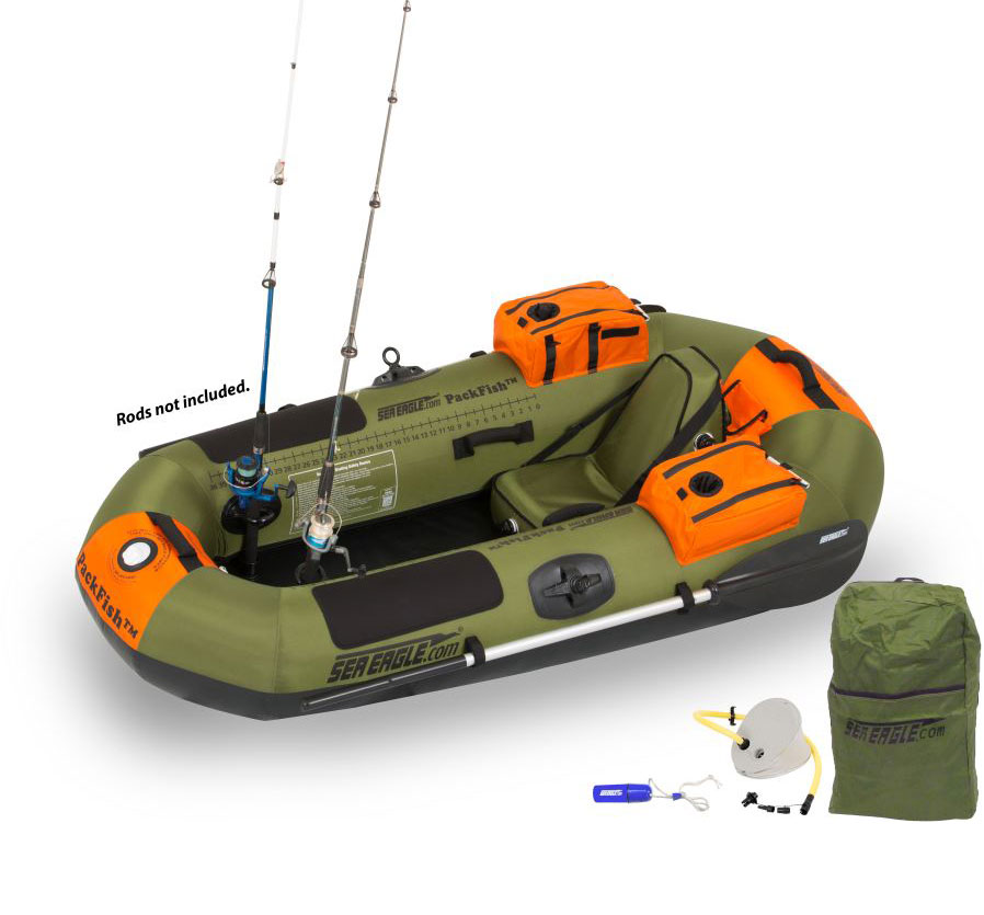Packfish 7 inflatable fishing boat inflatable boats 4 less for Blow up boat for fishing