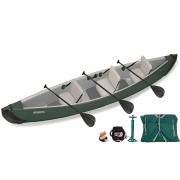 Sea Eagle Travel Canoe 16 Inflatable Canoe 3 Person Electric Pump