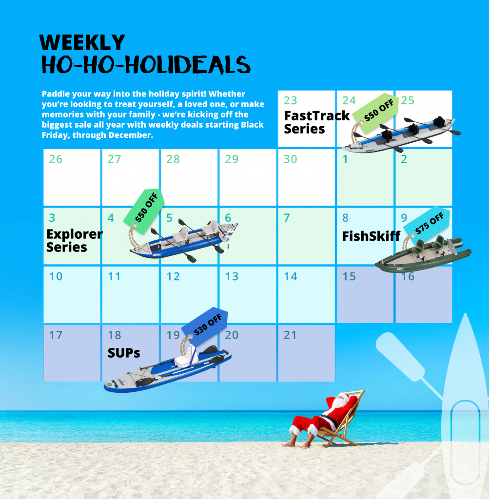 Holiday Sale on Inflatable Kayaks, Boats and SUPs