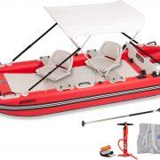 Sea Eagle Fastcat 12 Swivel Seat Canopy Inflatable Catamaran